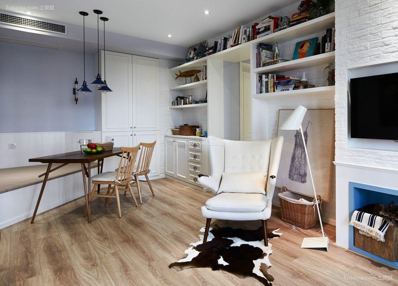 南湖国际120平简约风格三居室装修效果图