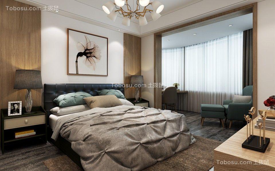 卧室蓝色沙发现代风格装饰设计图片