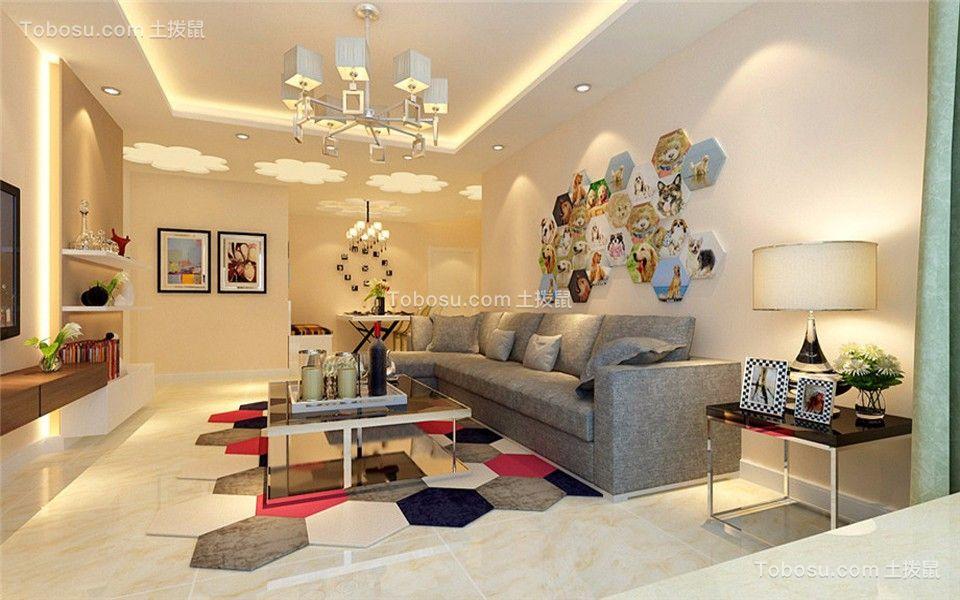 观澜时代120平米现代风格三居装修效果图