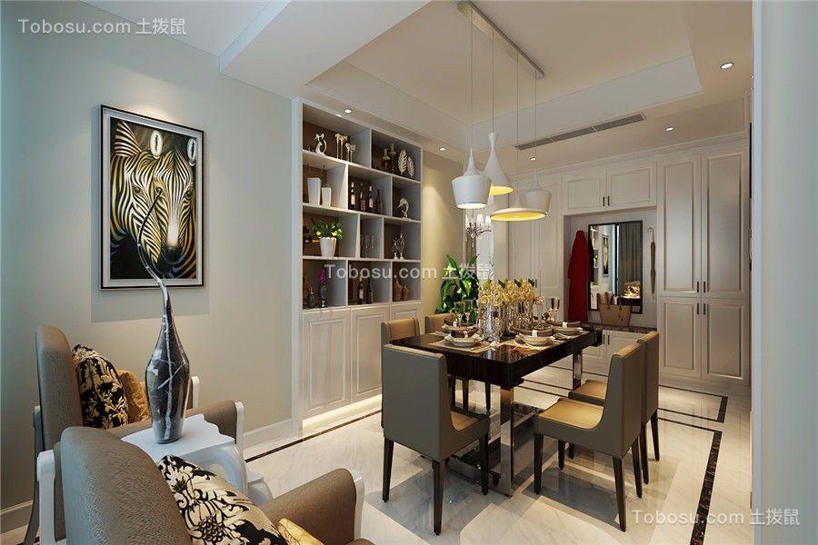绿地滨湖国际花都112平现代风格三居室装修效果图