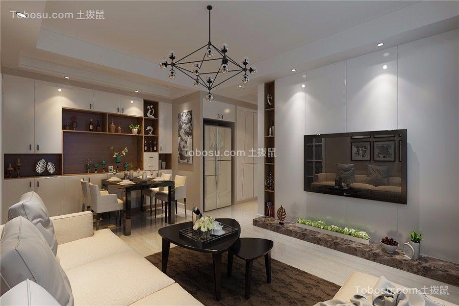合肥信地华地城89平现代风格三居室装修效果图