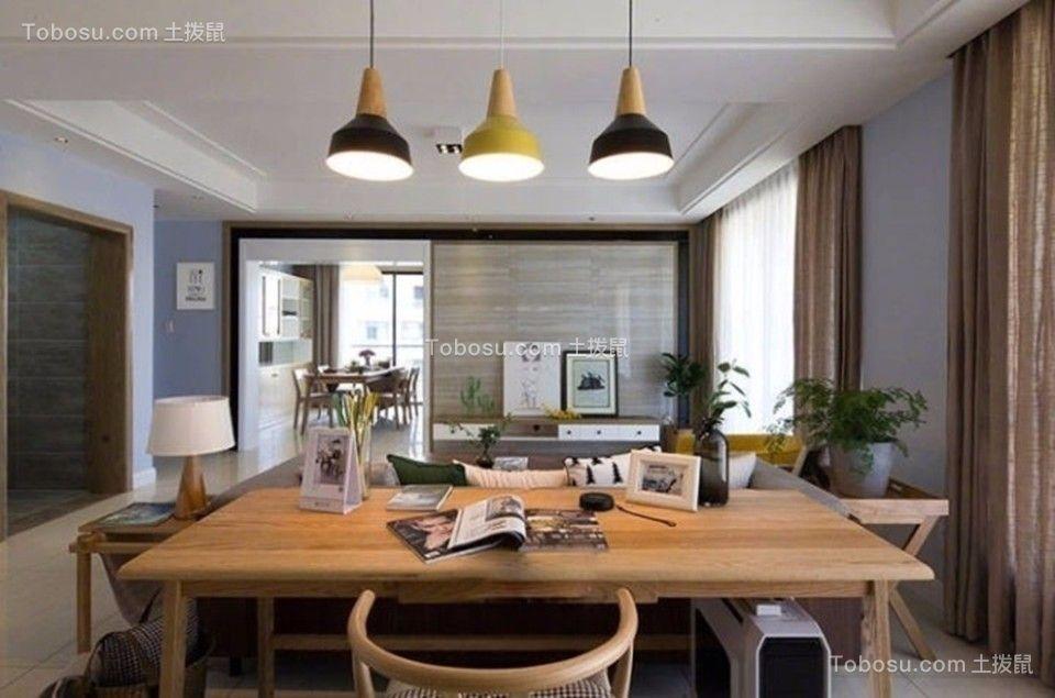 餐厅彩色吧台现代简约风格装饰效果图