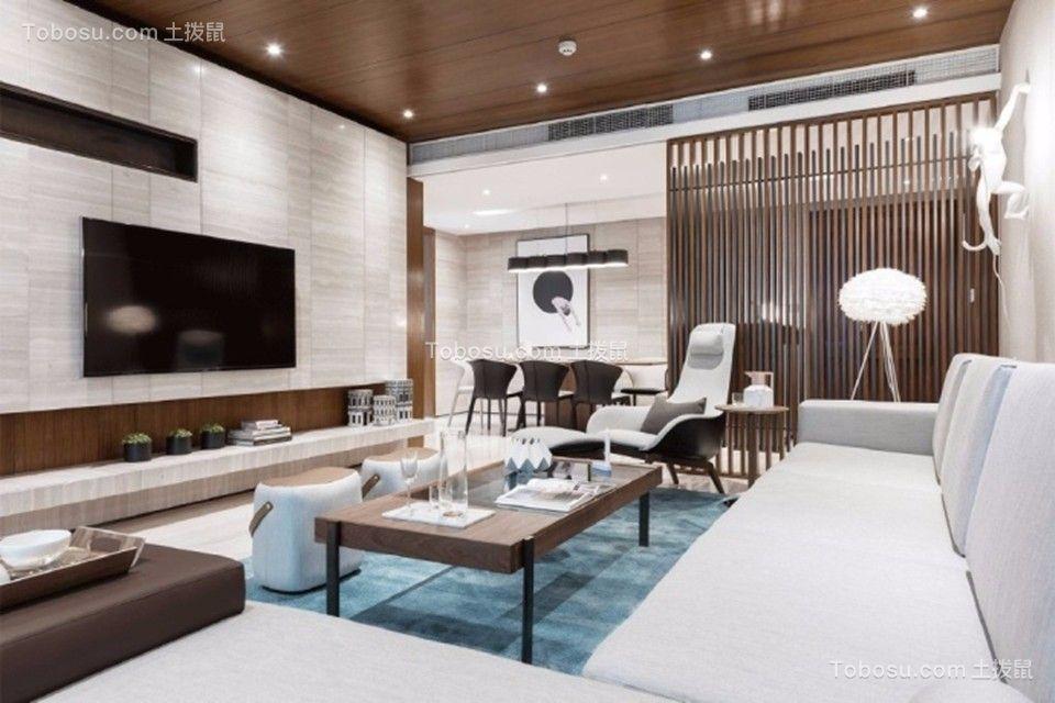 客厅米色电视柜现代简约风格装修图片