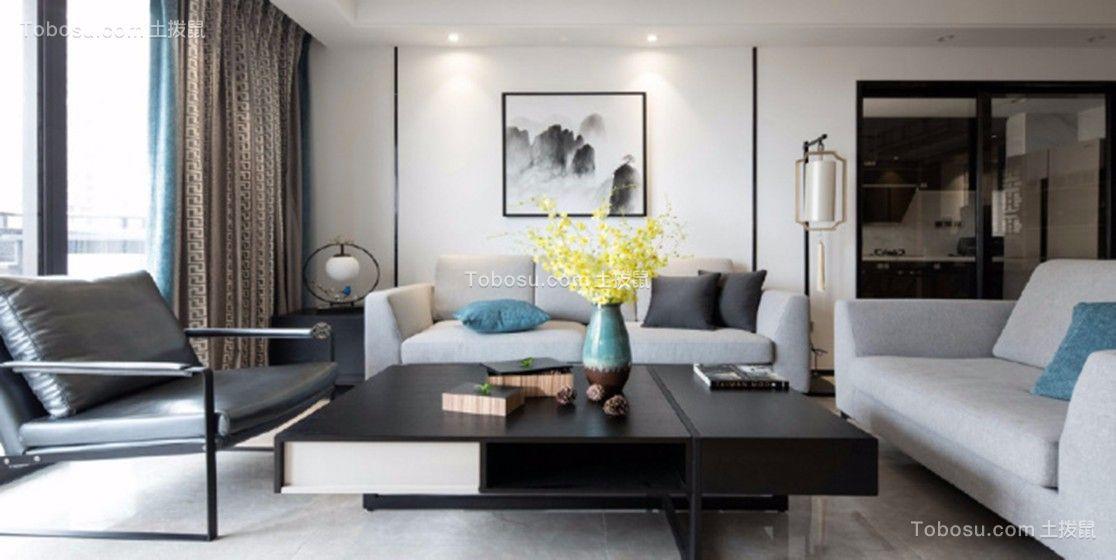 菱溪名居130平新中式风格三居室装修效果图