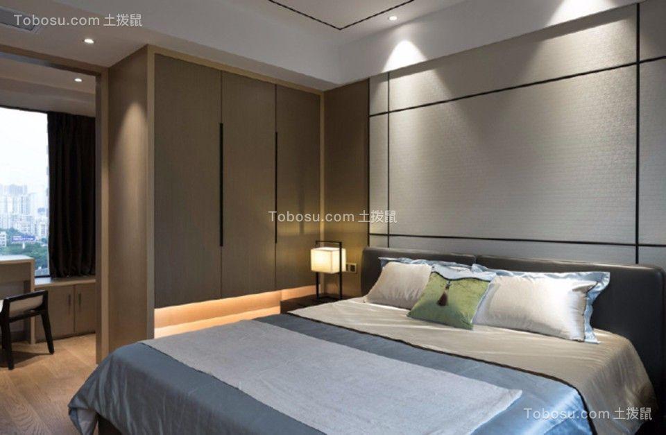 卧室灰色梳妆台新中式风格装修效果图