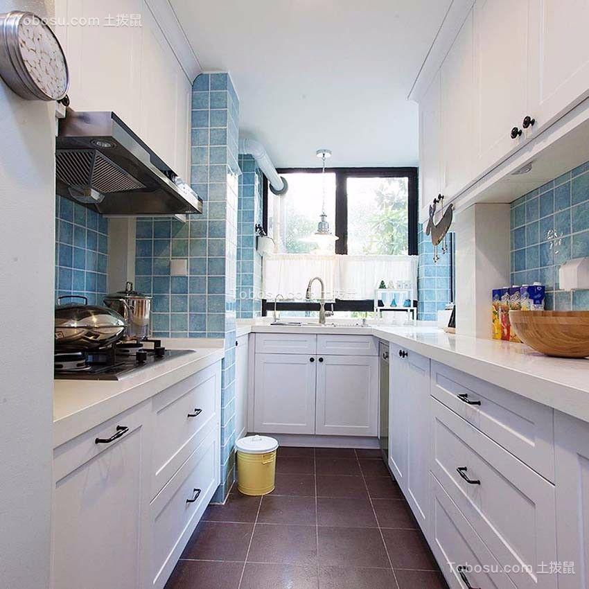 厨房 厨房岛台_启迪方洲79平小户型美式装修效果图