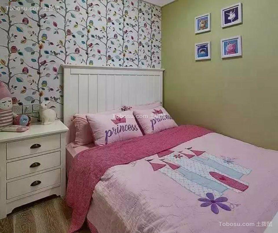 儿童房白色床头柜美式风格装修效果图