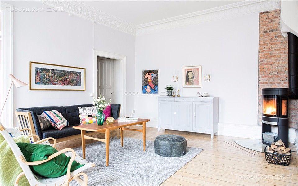 西桥花苑80平现代三室两厅一卫装修效果图