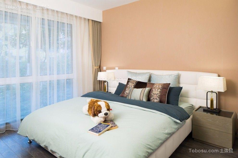 卧室 床_国富沙磁巷混搭风格118平三居室装修效果图