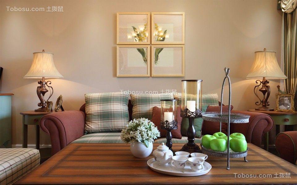 凯纳华侨103平米混搭风格三居室装修效果图