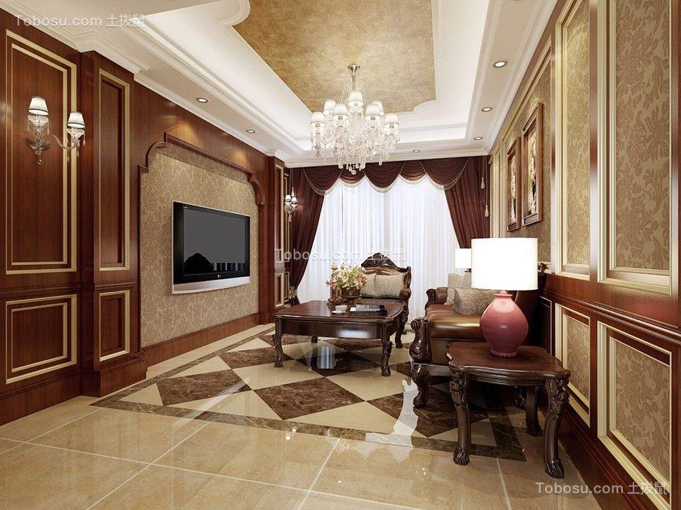 客厅背景墙美式风格装饰图片图片