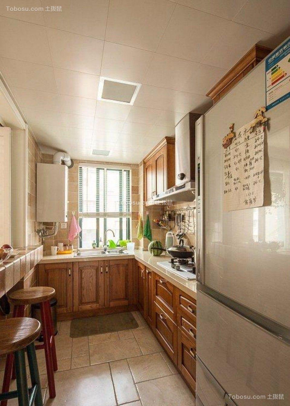 厨房 橱柜_融侨旗山120平两室两厅美式装修效果图