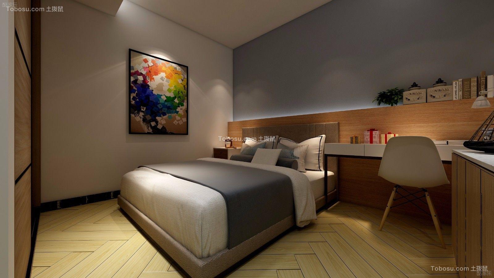 卧室黄色地砖现代简约风格装修设计图片