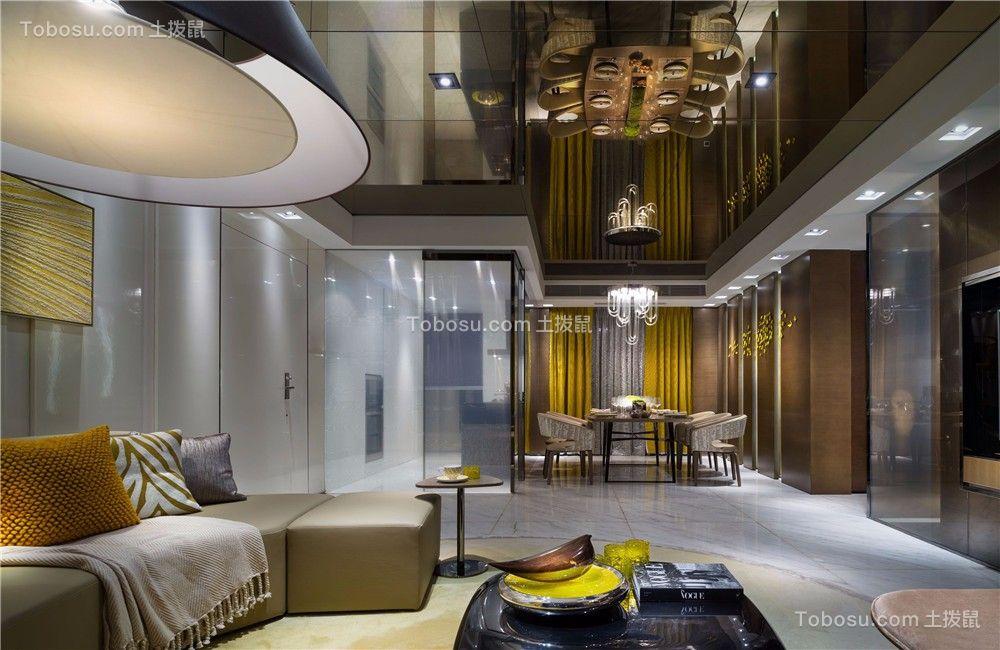 景城名轩112平现代风格二居室装修效果图