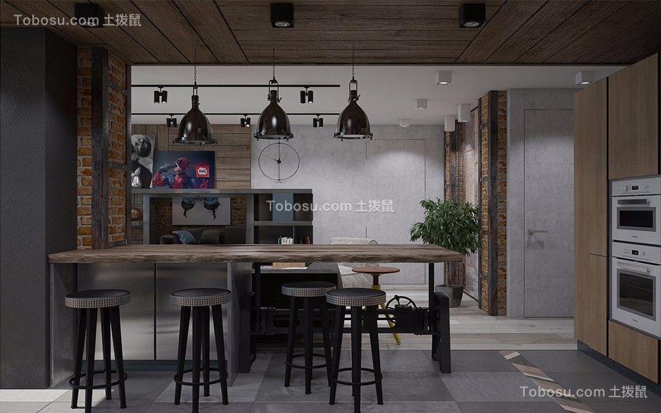 餐厅 餐桌_万达华府北欧风格110平三室两厅装修效果图