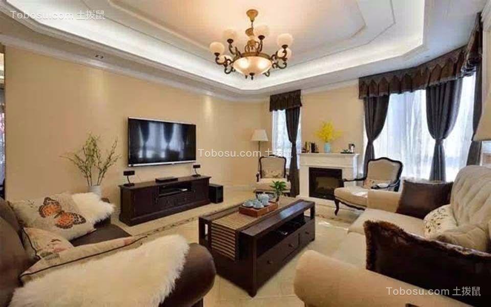 启迪方洲132平四室两厅美式装修效果图