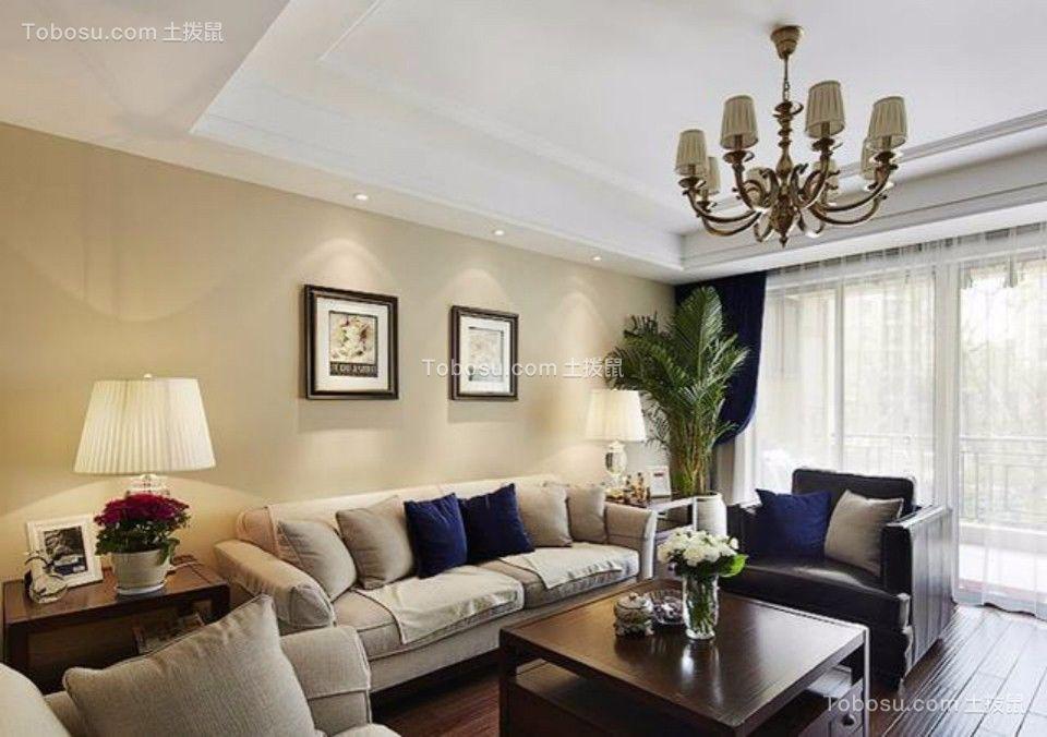 福州春天两室两厅140平美式风格二居室装修效果图