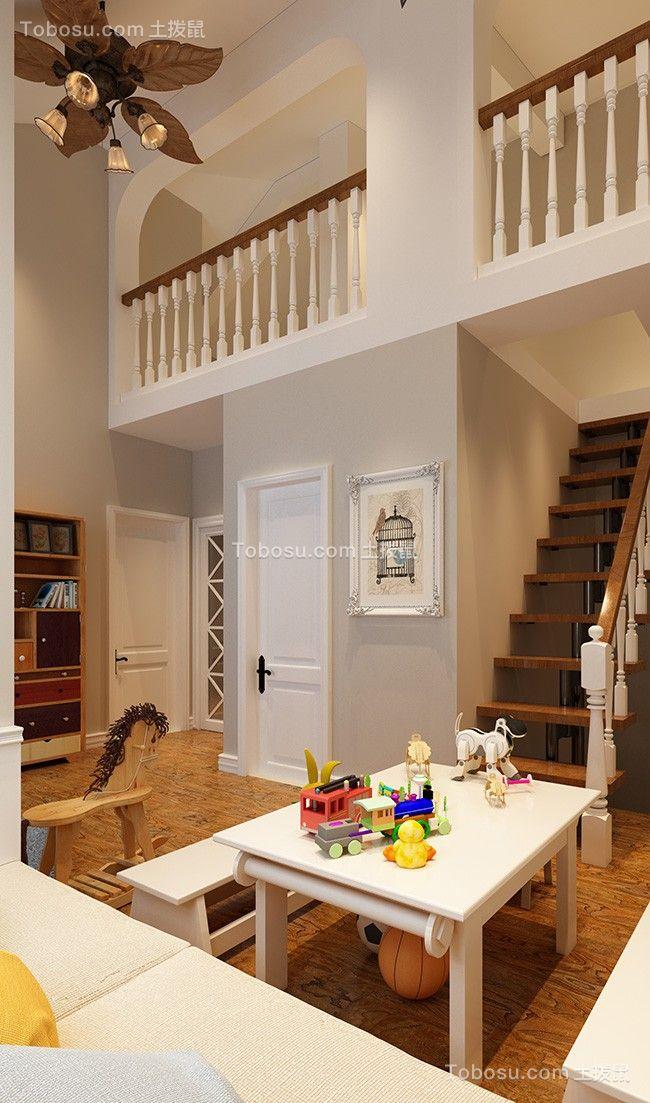 客厅楼梯北欧装修