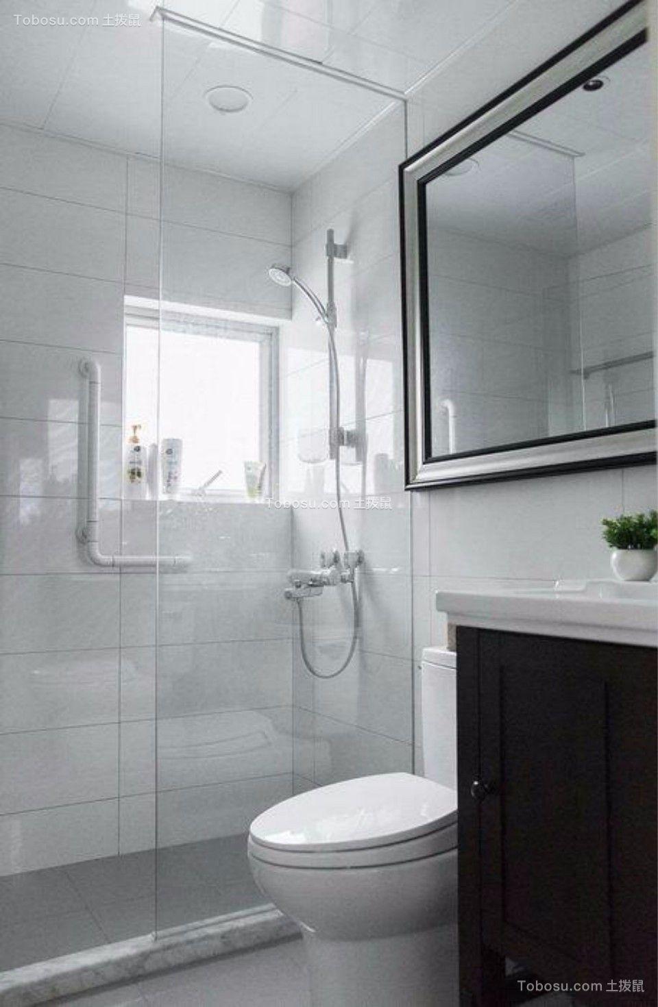 卫生间黑色洗漱台美式风格装潢图片