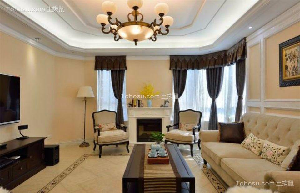 中茵名仕花城三室两厅125平美式风格装修效果图