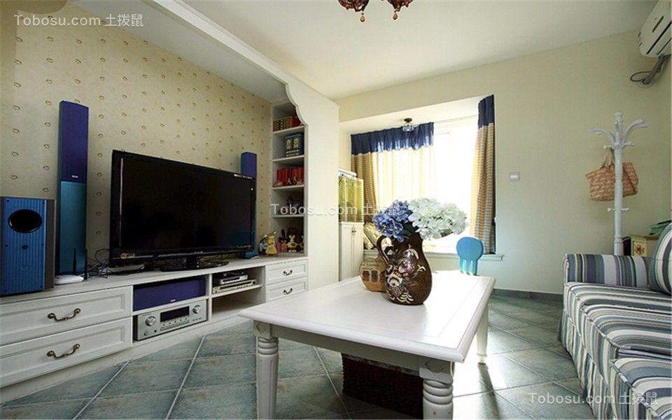 升龙天汇89平现代风格三室一厅一卫装修效果图
