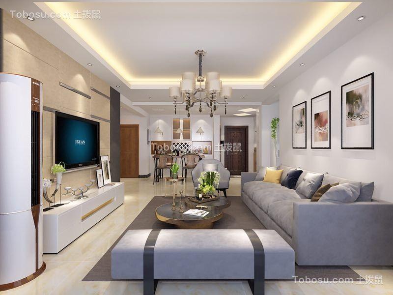 客厅 沙发_怡新花园134平三居现代简约风格装修效果图