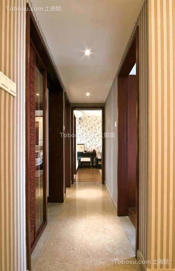玄关黄色地砖新古典风格装饰图片