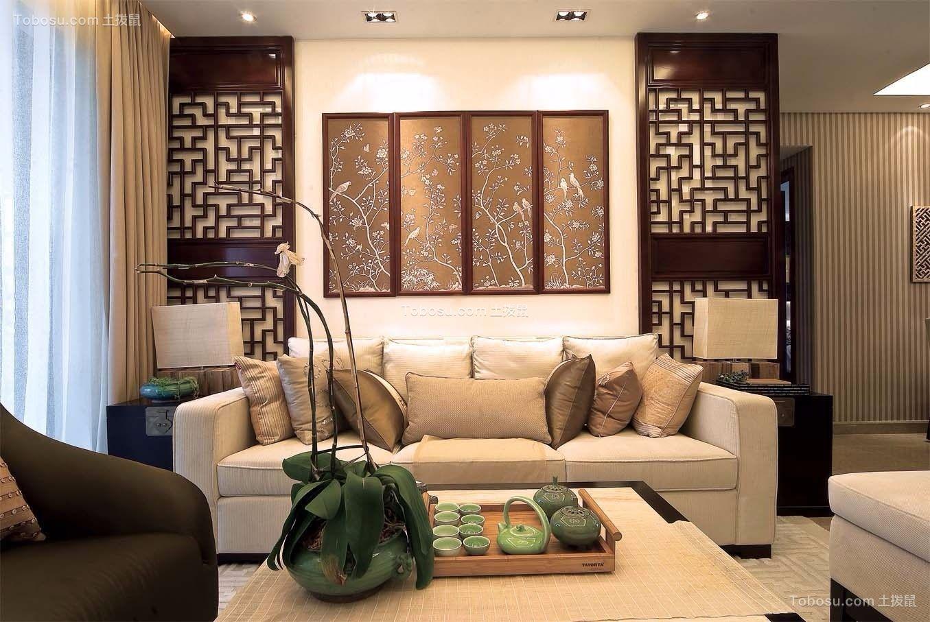 龙湖U城新古典风格100平三居室装修效果图