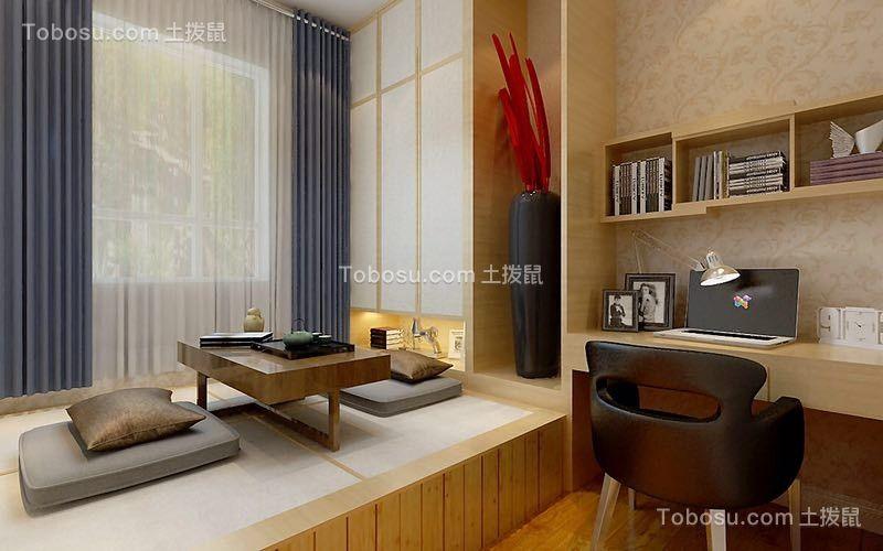 卧室 榻榻米_恒大地景三居室美式风格复式装修效果图
