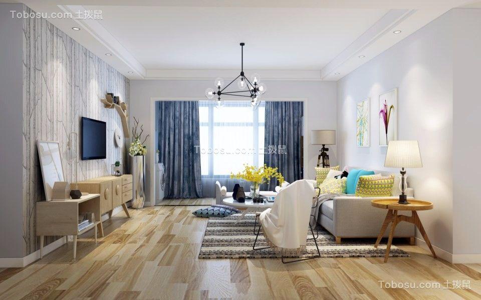 109平北欧风格三室两厅装修效果图