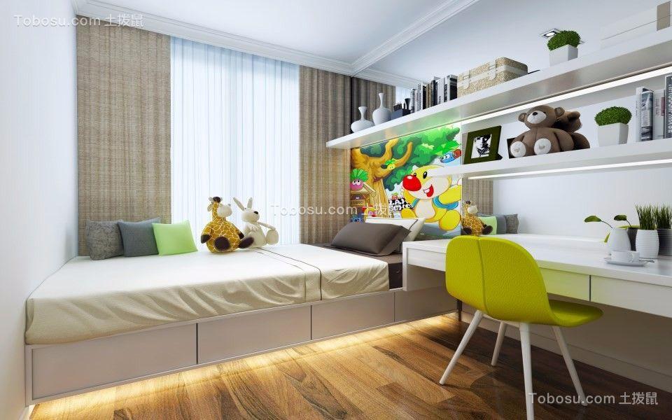 卧室 榻榻米_136平现代简约风格三室两厅装修效果图