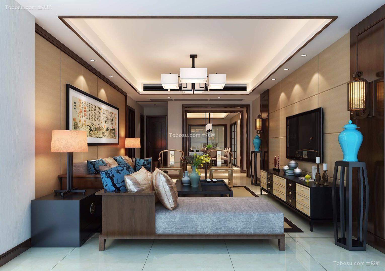 148平米新中式风格四室两厅装修效果图