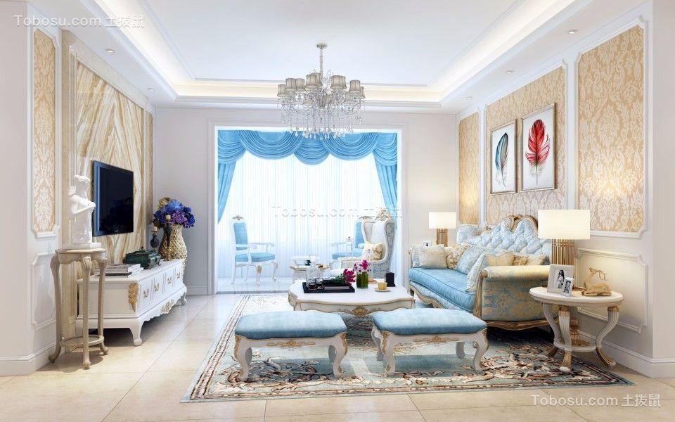130平简欧风格三室两厅装修效果图