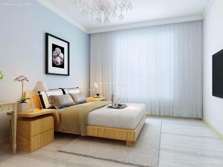 卧室白色床北欧风格装修设计图片图片