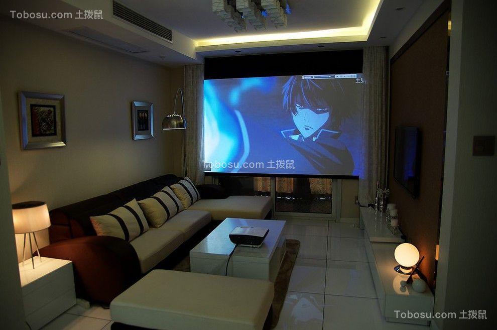 客厅彩色沙发现代简约风格装饰图片
