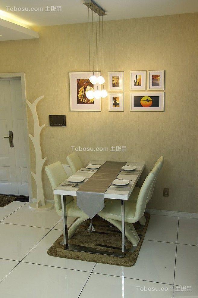 餐厅彩色餐桌现代简约风格装潢图片