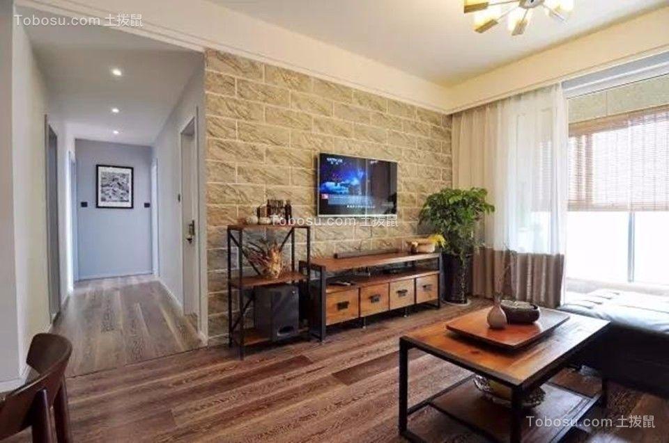 客厅 背景墙_中海凤凰熙岸观园88平简约风格三居室装修效果图