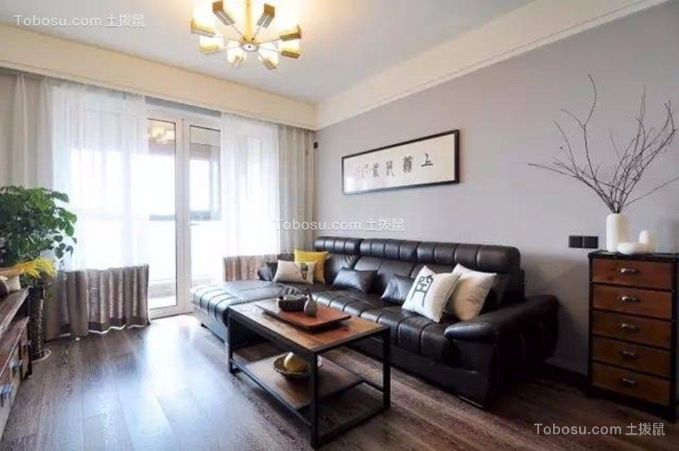 中海凤凰熙岸观园88平简约风格三居室装修效果图