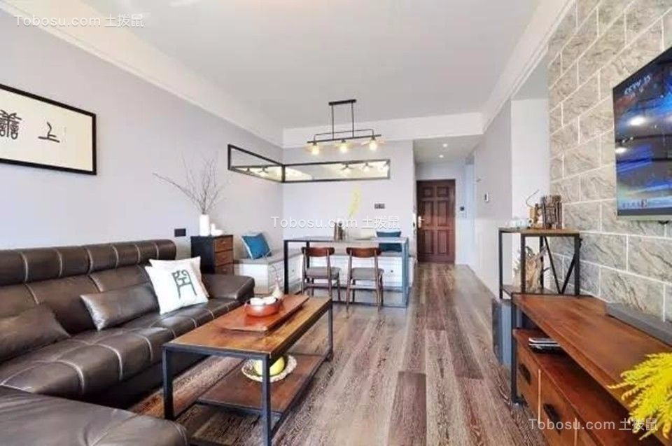 客厅 茶几_中海凤凰熙岸观园88平简约风格三居室装修效果图