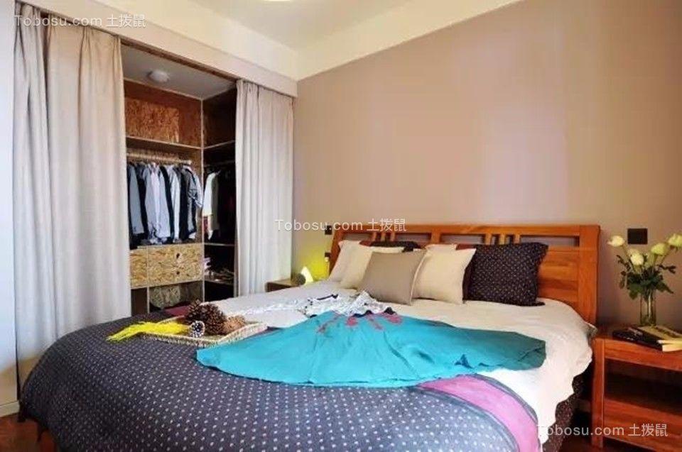 卧室 衣柜_中海凤凰熙岸观园88平简约风格三居室装修效果图