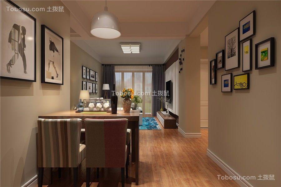 合肥信地华地城86平现代风格三居室装修效果图