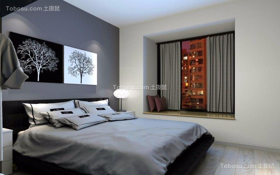卧室 窗台_114平现代风格三室两厅装修效果图