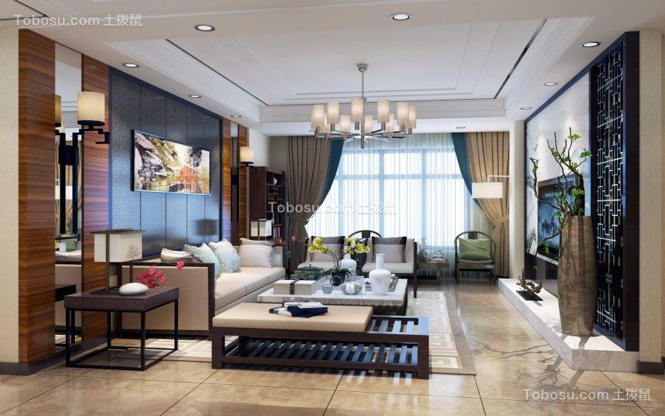110平新中式三室两厅装修效果图