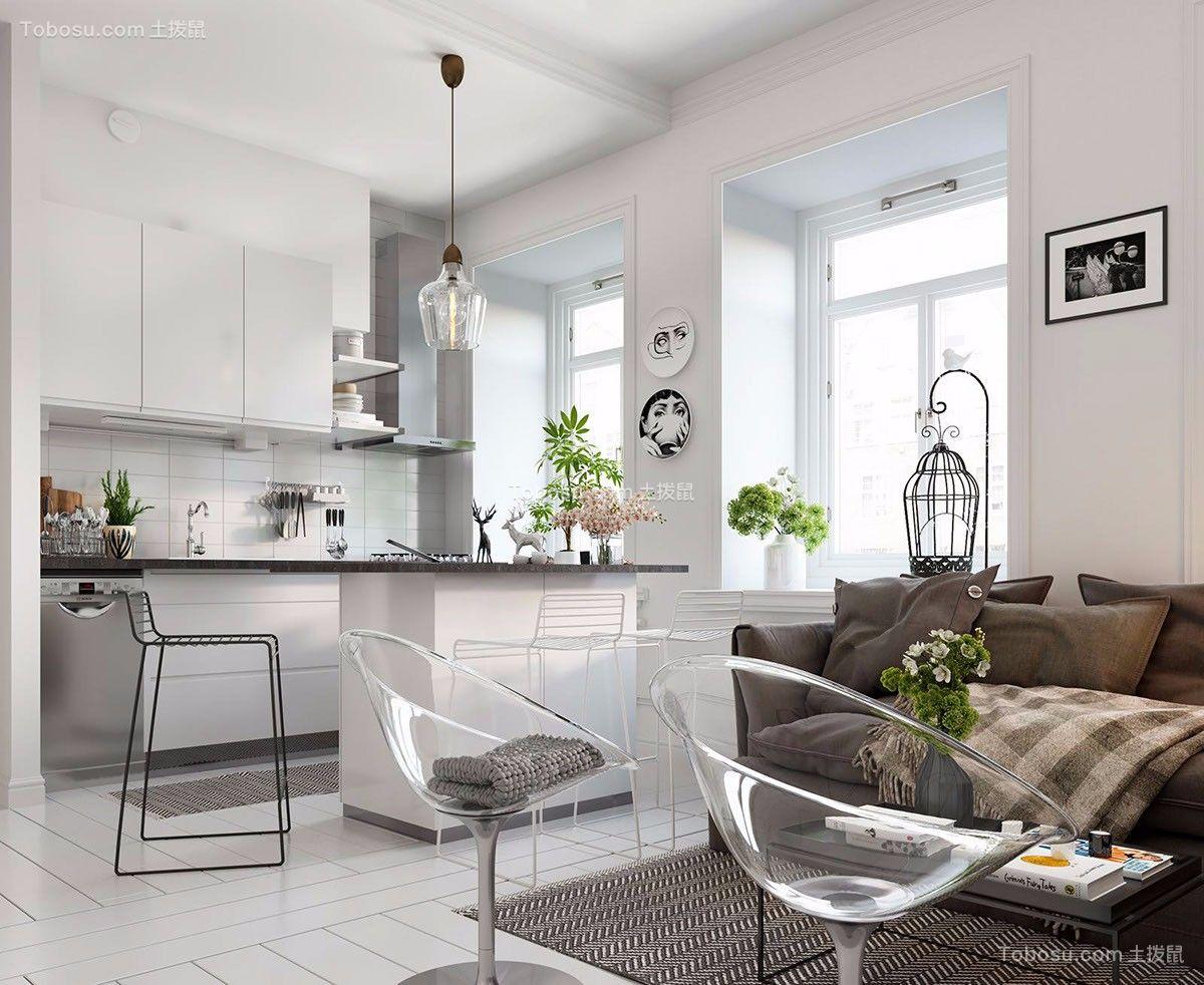 北欧风格50平米公寓新房装修效果图