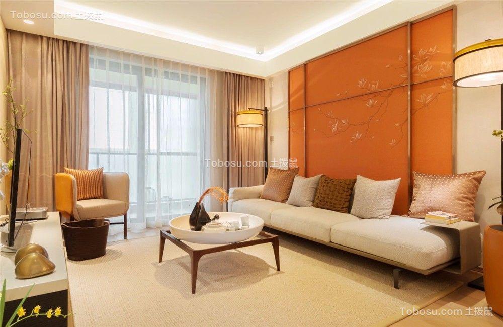 星河国际115平简约风格二居室装修效果图