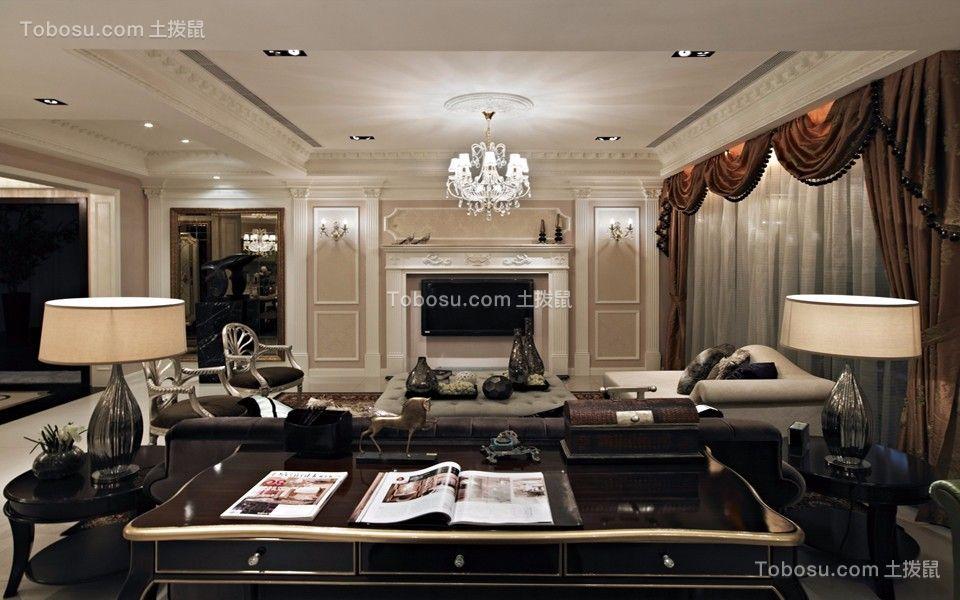 香榭丽园130平混搭风格三居室装修效果图