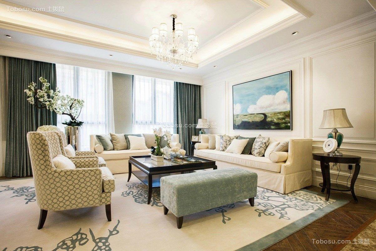 100平三居室现代风格装修效果图