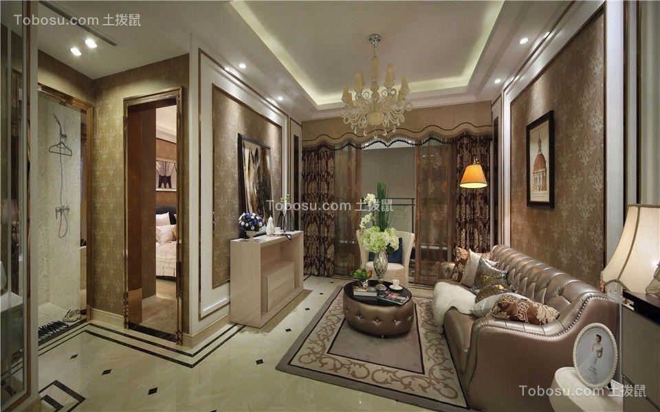 保利香槟国际121平欧式三室两厅两卫装修效果图
