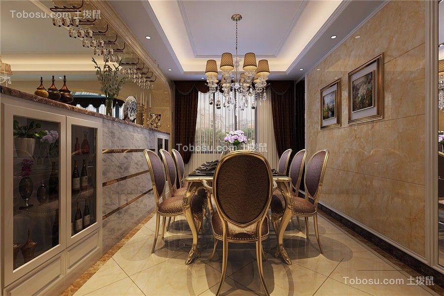 滨湖阳光里120平简欧风格三居室装修效果图