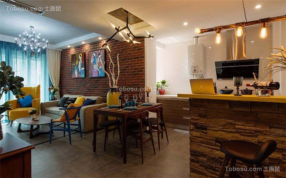 餐厅 背景墙_王府花园三室两厅125平混搭装修效果图